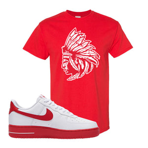 Air Force 1 Low Red Bottoms T Shirt | Red, Indian Chief