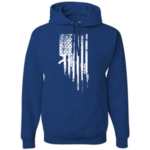 Standard Issue Gunned American Flag Royal Blue Pullover Grunt Life Hoodie