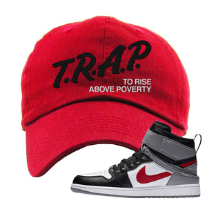 Air Jordan 1 Flyease Dad Hat | Red, Trap To Rise Above Poverty