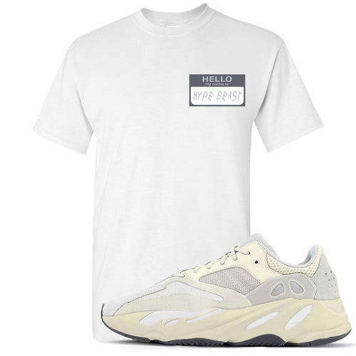 Yeezy Boost 700 Analog Sneaker Match Hello My Name Is Hype Beast Drake White T-Shirt
