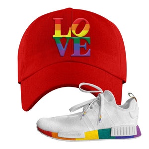 NMD R1 Pride Dad Hat | Red, Love Park