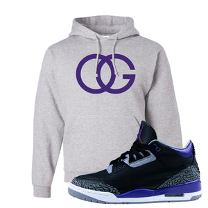 Air Jordan 3 Court Purple Hoodie | OG, Ash