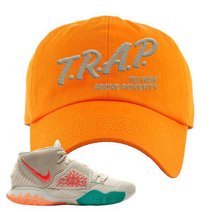 Kyrie 6 N7 Dad Hat | Orange, Trap To Rise Above Poverty