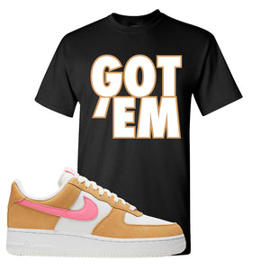 Nike Air Force 1 Pink Orange T-Shirt | Got Em, Black