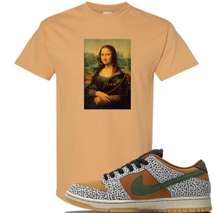 SB Dunk Low Safari Sneaker Old Gold T Shirt | Tees to match Nike SB Dunk Low Safari Shoes | Divine Lisa