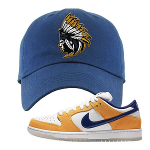 SB Dunk Low Laser Orange Dad Hat | Navy, Indian Chief