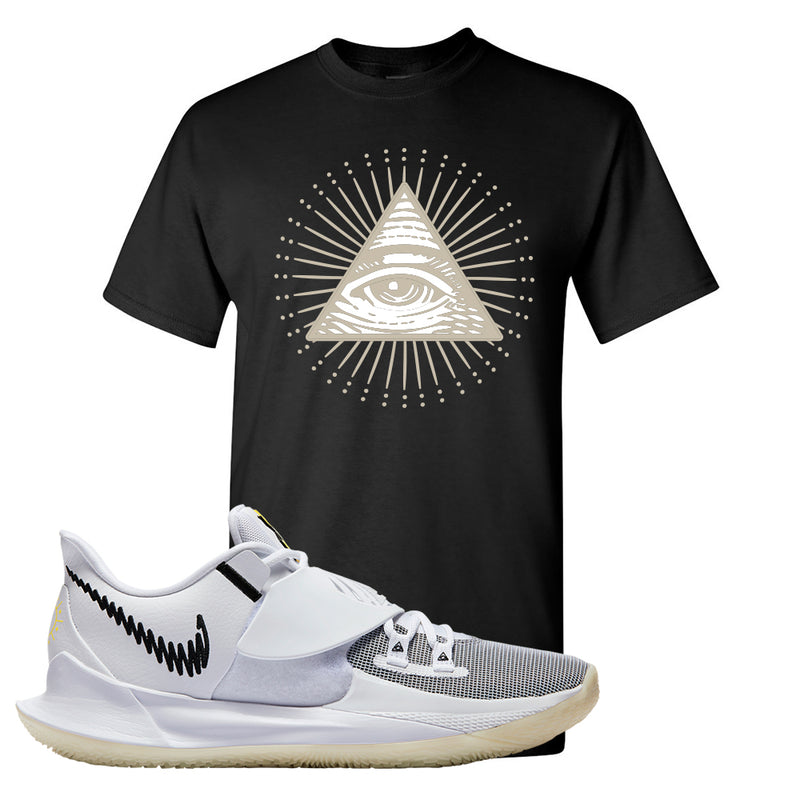 Kyrie Low 3 T Shirt | Black, All Seeing Eye