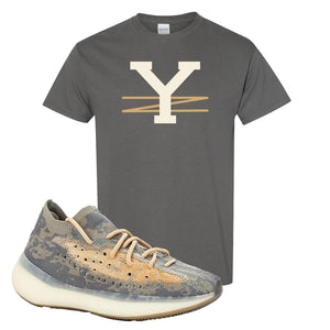 Yeezy Boost 380 Mist Sneaker Charcoal Gray T Shirt | Tees to match Adidas Yeezy Boost 380 Mist Shoes | YZ