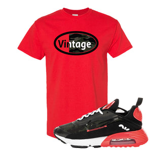 Air Max 2090 Duck Camo T Shirt | Red, Vintage Oval
