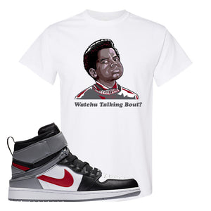 Air Jordan 1 Flyease T Shirt | White, Watchu Talking Bout