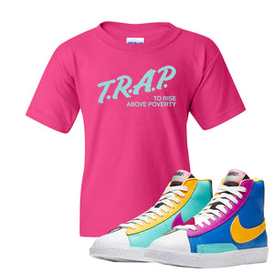 Blazer Mid Big Kids T Shirt | Heliconia, Trap To Rise Above Poverty