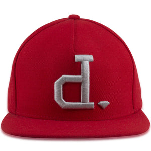 "Diamond Supply Co ""d."" Red Adjustable Snapback Hat"