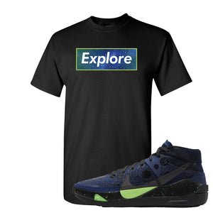 KD 13 Planet of Hoops T Shirt | Explore Box Logo, Black