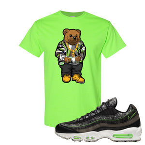 Air Max 95 Black / Electric Green T Shirt | Sweater Bear, Neon Green