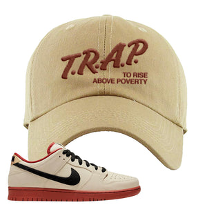SB Dunk Low Muslin Dad Hat | Trap To Rise Above Poverty, Khaki