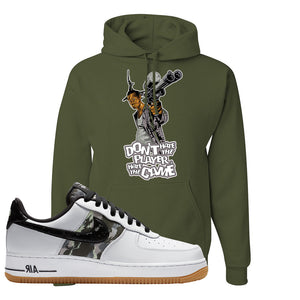 Air Force 1 Low Camo Hoodie | Don't Hate The Playa, Fatigue Green