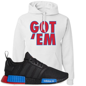 NMD R1 Black Red Boost Matching Hoodie | Sneaker hoodie to match NMD R1s | Got Em, White