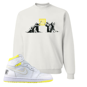 Air Jordan 1 First Class Flight Sneaker Release Today White Sneaker Matching Crewneck Sweatshirt