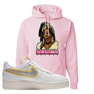 Air Force 1 Low 07 LX White Gold Hoodie | Oh My Goodness, Classic Pink