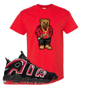 Air More Uptempo Laser Crimson Biggie Bear Red Sneaker Hook Up Men's T-Shirt