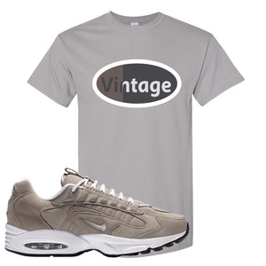 Air Max Triax 96 Grey Suede T Shirt | Vintage Oval, Gravel
