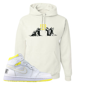 Air Jordan 1 First Class Flight Sneaker Release Today White Sneaker Matching Pullover Hoodie