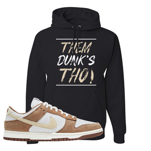 Dunk Low Medium Curry Hoodie | Them Dunks Tho, Black