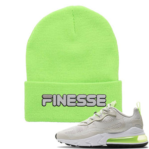Air Max 270 React Ghost Green Sneaker Neon Lime Beanie | Beanie to match Nike Air Max 270 React Ghost Green Shoes | Finesse