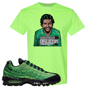 Air Max 95 Naija T Shirt | Escobar Illustration, Neon Green