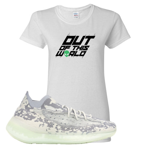 Yeezy Boost 380 Alien Outta This World White Sneaker Matching Women's T-Shirt