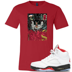 Air Jordan 5 OG Fire Red T Shirt | Red, Mastering Fire