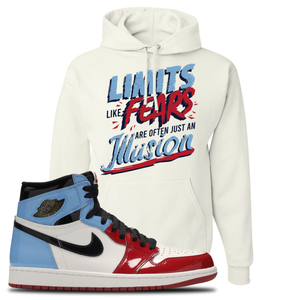Air Jordan 1 Fearless Limits White Made to Match Pullover Hoodie