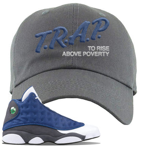 Jordan 13 Flint 2020 Sneaker Dark Gray Dad Hat | Hat to match Nike Air Jordan 13 Flint 2020 Shoes | Trap To Rise