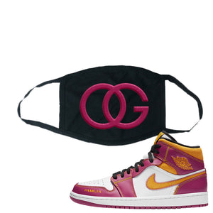 Air Jordan 1 Mid Familia Face Mask | OG, Black