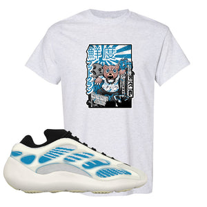 Yeezy 700 V3 Kyanite T Shirt | Attack Of The Bear, Ash