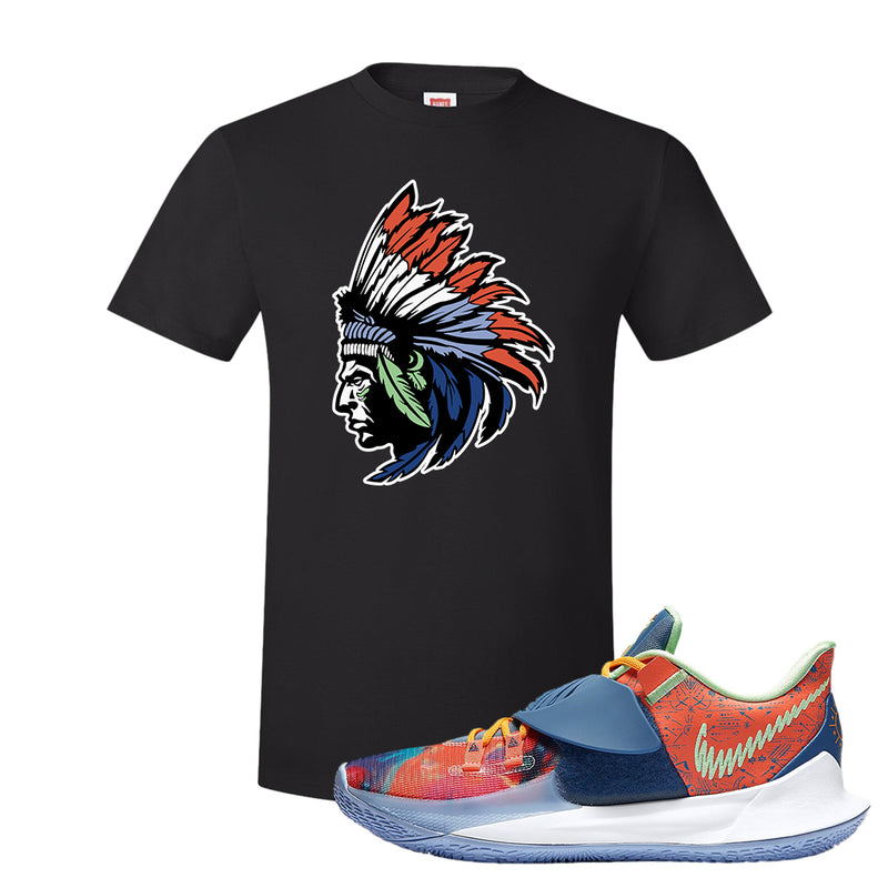 Kyrie Low 3 Ancient Symbols T Shirt | Indian Chief, Black