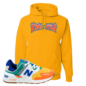 997S Multicolor Sneaker Gold Pullover Hoodies | Hoodies to match New Balance 997S Multicolor Shoes | Trap Star