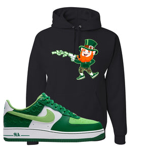 Air Force 1 Low St. Patrick's Day 2021 Hoodie | Leprechaun, Black