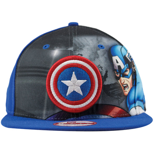 Captain America Graphic Illustration 9FIFTY Snapback Hat