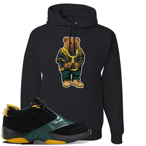 Answer 5 Bethel High Sneaker Black Pullover Hoodie | Hoodie to match Reebok Answer 5 Bethel High Shoes | Sweater Bear