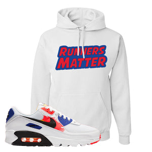Air Max 90 Paint Streaks Hoodie | Runners Matter, White