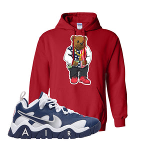 Air Barrage Low USA Hoodie | Red, Sweater Bear