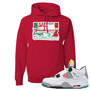 Jordan 4 WMNS Carnival Sneaker True Red Pullover Hoodie | Hoodie to match Do The Right Thing 4s | Sal's Pizza Box