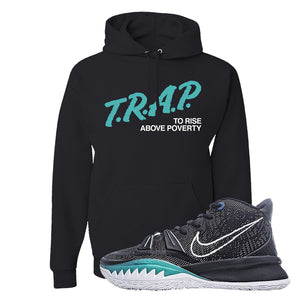 Kyrie 7 Pre Heat Hoodie | Trap To Rise Above Poverty, Black