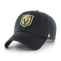 Embroidered on the front of the Golden Knights adjustable black baseball cap is the Golden Knights logo in gold, gray and black