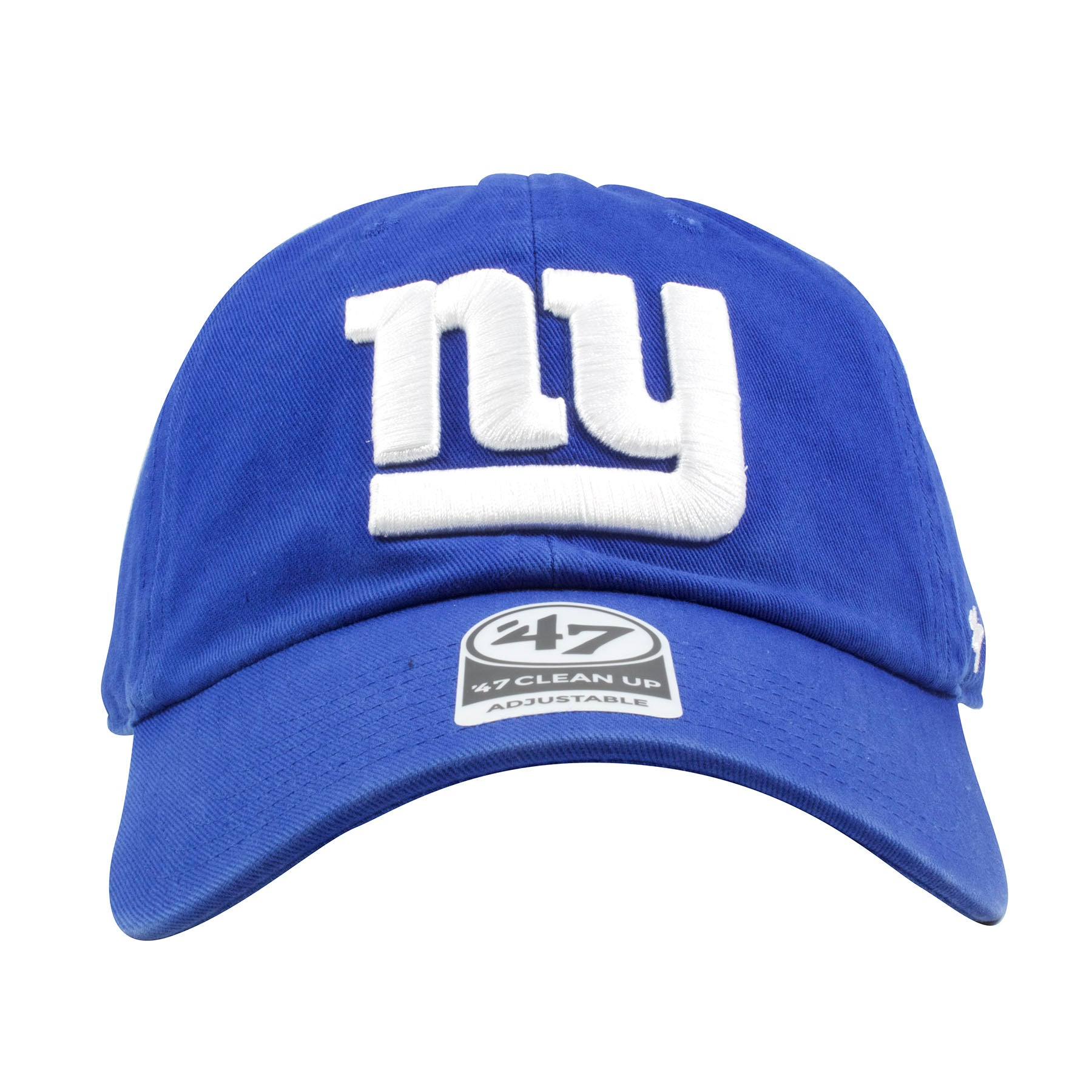 cdae874a6ca Embroidered on the front of the New York Giants dad hat is the Giants logo  embroidered