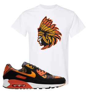 Air Max 90 Orange Camo T Shirt | Indian Chief, White