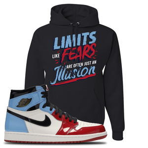 Air Jordan 1 Fearless Limits Black Made to Match Pullover Hoodie