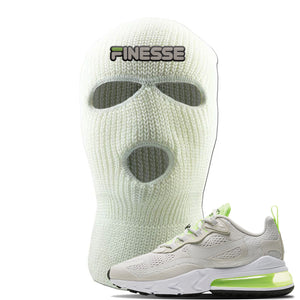 Air Max 270 React Ghost Green Sneaker White Ski Mask | Winter Mask to match Nike Air Max 270 React Ghost Green Shoes | Finesse