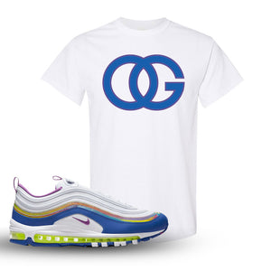 Air Max 97 'Easter' Sneaker White T Shirt | Tees to match Nike Air Max 97 'Easter' Shoes | OG